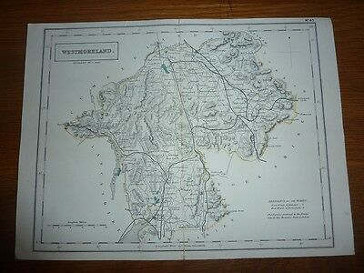 Antique Map of Westmoreland by Sidney Hall 1831
