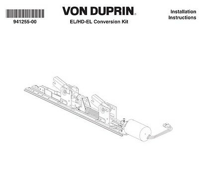 Von Duprin 050070 EL Conversion Kit, Electric Latch Retraction New In Box 3' Kit
