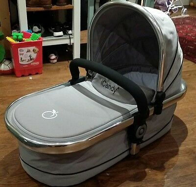 iCandy peach carrycot silver mint immaculate
