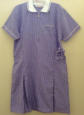 Girls School Purple - White Check Dress Age 18