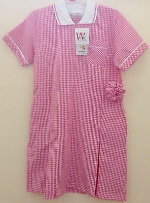 Girls School Pink -White Check Dress Age 16