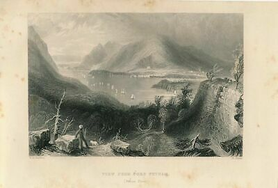 Fort Putnam view of Hudson River New York ca. 1855 U.S. History engraved print