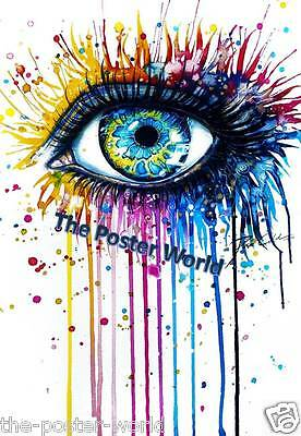Beautiful Peacock Eye Watercolor Home Decor Poster Picture Wall Art Print New