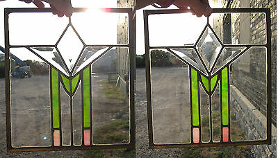 Antique Stained Glass Leaded Windows Beveled Glass Arts Crafts Home Midwest Usa
