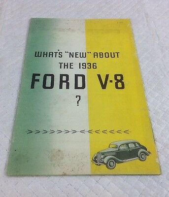 1936 What's New With The Ford V8 Brochure