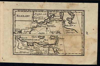 Barbary North Africa Tripoli rare c.1798 antique engraved map W&B #855
