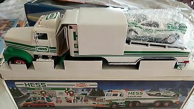 Vintage 1991Hess Toy Truck with Race Car, Brand New in Box.