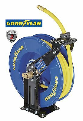 GOODYEAR Steel Retractable Air Compressor/Water Hose Reel w/ 1/2 in. x 50 ft