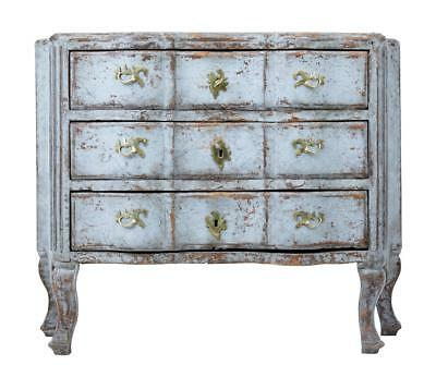 Early 19Th Century Swedish Painted Serpentine Chest Of Drawers Commode