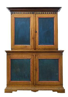 Rare Early 19Th Century Oak Dalsland Region Swedish Painted Cabinet