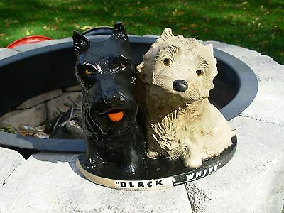 Black & White Scotch Whiskey Advertising Figurine Dogs