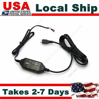 Mini 12v to 5v Hard Wire Adapter Cable Micro USB For 0803 Car Dash Cam Camera