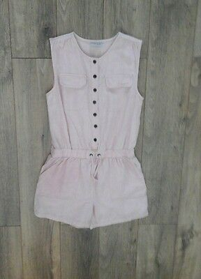 Next Girls Playsuit Short Peach 12 Years Vg Used Cond