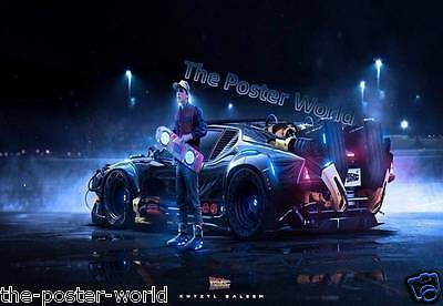 Back to the Future Movie Vintage Delorean Picture Poster Home Art Print New Z3