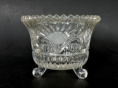 Vintage pressed glass footed bowl EAPG ?