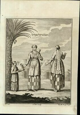 Northern Tartary Woman Chinese Russia Nieuhof 1747 fine antique China print