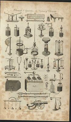 Electrical Apparatus Cannon 1789 antique engraved print