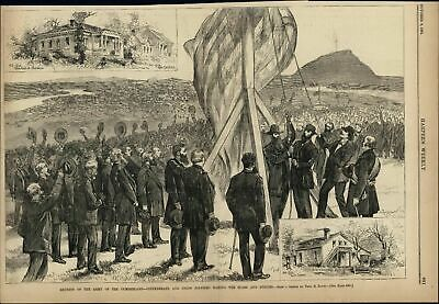 Reunion Army Cumberland Confederate Union 1881 vintage newsprint sheet paper