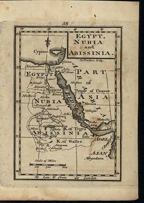 Egypt Nubia Abyssinia Red Sea Arabia Sinai Peninsula c.1798 antique engraved map