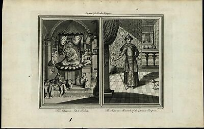 Chinese Idol Xekia Supreme Monarch ca. 1780's fascinating old engraved print
