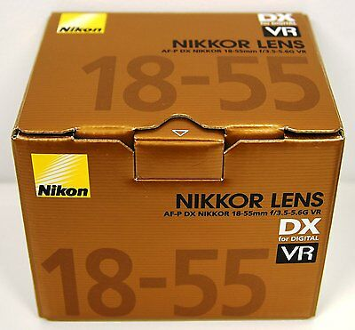 Afp Stepping Vr Nikon Af-p Dx Zoom Nikkor 18-55mm f/3.5-5.6G Lens New Gold Box