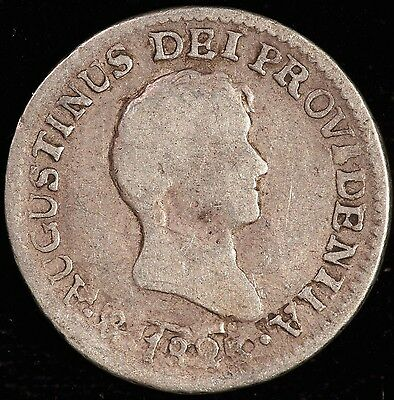 Mexico. 1/2 Real, 1823 Mo JM. KM# 301. Good.