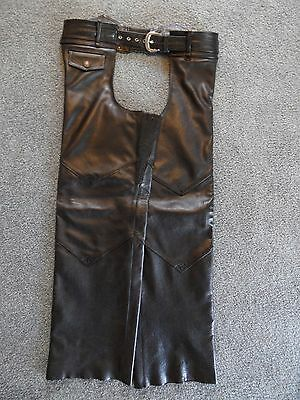 HARLEY DAVIDSON – Men's Deluxe Black Leather Chaps - Size M