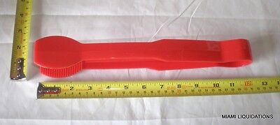"Lot of 12 Cambro TG120 Serving Tong 12"" Flat Grip Plastic Red Commercial Poly"
