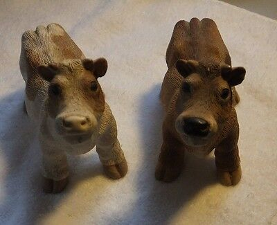 Cow Figurines-Resin- Brown Cows