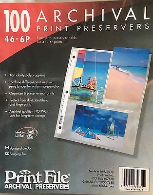 Print File 4x6 Archival Print Preservers 200 Pages 46-6P