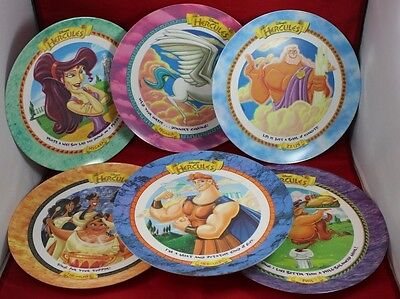 McDonald's Disney's Hercules 1997 Complete 6 Set Plastic Plates READ Description