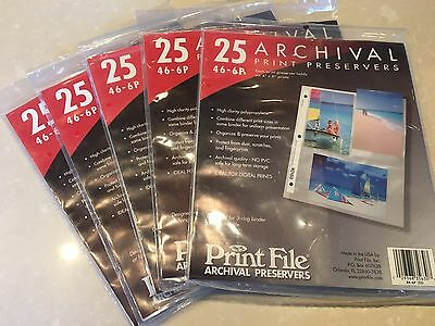 Print File 125 4x6 - 6 Archival Print Preservers Pages 46-6P
