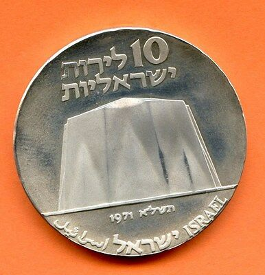1971 Without Star MS Israel Silver 10 Lirot -Beautiful Coin - Free Shipping