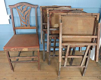 Wooden Folding Chairs - Antique/vintage