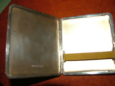 solid silver cigarette case