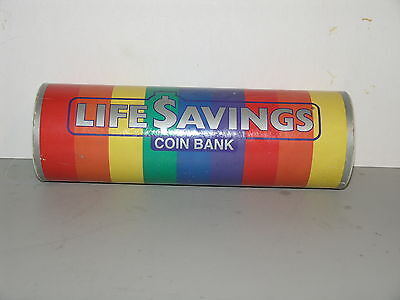 Vintage Life Savings Roll Candy Coin Bank 1989 Ralphco