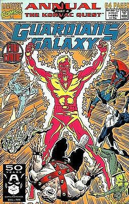 Marvel Comics Guardians of the Galaxy Annual #1 Comic New NM 1991 H29