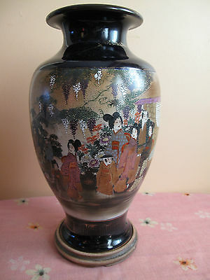 Large Antique/vintage Japanese Satsuma Porcelain Vase Hand Painted #2