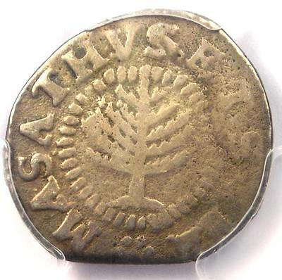 1652 Massachusetts Colonial Pine Tree Shilling Coin 1S - PCGS VG Details!