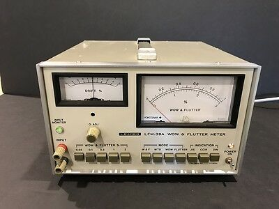 Leader Lfm-39A Wow And Flutter Meter Analyzer