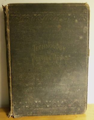 Rare 1892 TECHNOLOGY TEXTILE DESIGN PRACTICAL TREATISE WEAVES FABRICS by Posselt