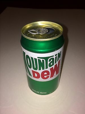 Vintage Mountain Dew Soda Can 1980s Gold Lid