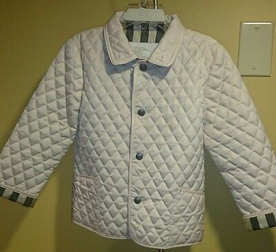 Burberry Girl's Toddler Quilted Ice Pink Jacket Coat Size 3