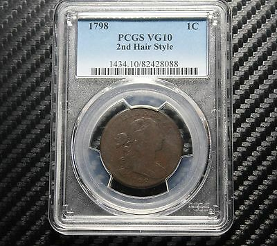 1798 Large Cent PCGS VG10 - 2nd Hair Style
