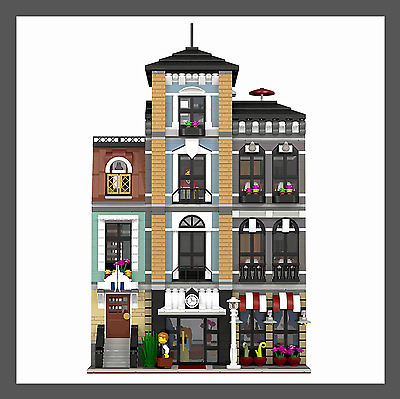 LEGO Custom Modular HOTEL - INSTRUCTIONS ONLY!