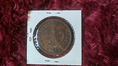 1857 Bank of Upper Canada - One Penny Bank Coin **Free Shipping**
