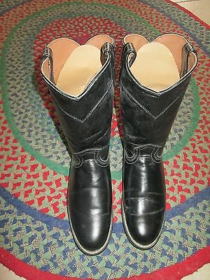 Womens Boots Western Style Size 9M Black In Very Good Condition