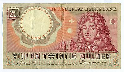 1955 NETHERLANDS 25 Gulden Pick Cat. Nr. 83-1b  Amesterdam