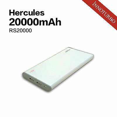 Hercules RSW 20000mah portable charger, LG premium battery, TI protection system