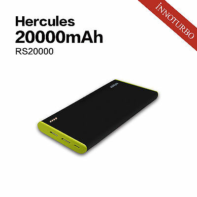 Hercules RSB 20000mah portable charger, LG premium battery, TI protection system